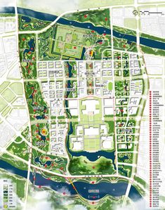 Image 5 of 5 from gallery of Cityförster to Lead Design of New Beijing Government District. Courtesy of Cityförster Masterplan Architecture, Futuristic Architecture, Architecture Plan, Landscape Architecture, Urban Design Diagram, Urban Design Plan, Plan Design, Landscape Plans, Urban Landscape