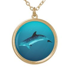 """Jewelry - Necklaces and Lockets ••• """"Blackfin the Dolphin"""" art by Amber Marine ••• AmberMarineArt.com •••"""
