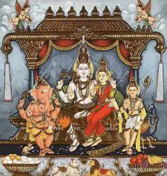 Image may contain: 3 people Shiva Art, Shiva Shakti, Hindu Art, Mysore Painting, Tanjore Painting, Lord Ganesha Paintings, Lord Shiva Painting, Indian Gods, Indian Art