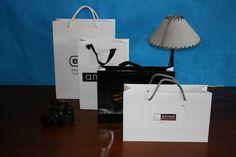Bolsas de papel de lujo impresas.