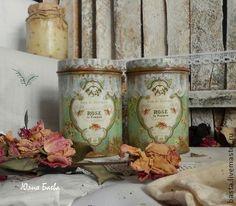 """Кухня ручной работы. Ярмарка Мастеров - ручная работа Баночки для специй """"Roses"""".. Handmade."""