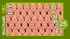 You can use this beautiful macrame pattern for different types of goals, for example: Handbags, cosmetic bags, clothing accessories, purses, cases, wallets, bracelets...  #HowTo #Macrame #Pattern for #Accessories #Handbags #Clothing etc..