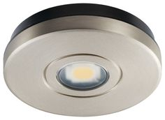 The Lowdown on High-Efficiency LED Lighting (11 / 21) Puck lights work well under cabinets, inside cabinets and in niches. The discs come as battery-powered or plug-in units, sold individually or in kits in a wide range of prices, from about $10 to $80.