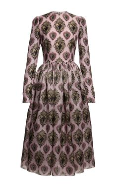 Long Sleeve Sacred Heart Organza Dress by Dolce & Gabbana for Preorder on Moda Operandi