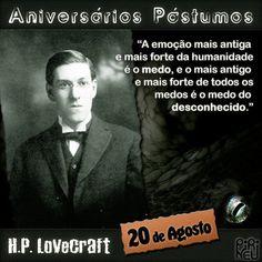 H. P. Lovecraft || #lovecraft #aniversário #citação #citações #frase #frases #postumo