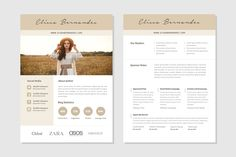 Blog Media Kit Template - 3 Page by Elissa Bernandes on @creativemarket
