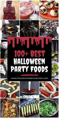 100 Best Halloween Foods Impress your halloween party guests with these spooktacular halloween food ideas! There are halloween recipes for appetizers, main entrees, desserts, drinks Halloween Desserts, Entree Halloween, Halloween Themed Food, Halloween Party Appetizers, Hallowen Food, Halloween Party Supplies, Halloween Food For Party, Snacks Für Party, Halloween Kids