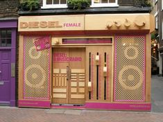 Diesel shopfront #design #inspiration #storefront  Check out SI Retail's Promotional Products for store front https://www.sishop.com.au/products-c-11/promotional-signage-c-11_54