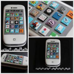 iPhone cake.  www.facebook.com/TiersTiaras