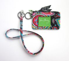Vera Bradley Lanyard and Zip ID Case in Parisian Paisley*New With Tags* | Clothing, Shoes & Accessories, Women's Accessories, ID & Document Holders | eBay!