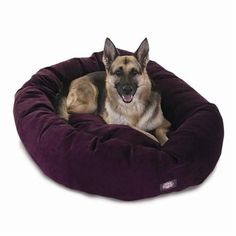 "Majestic Pet Products 52"" Aubergine Villa Collection Micro-Velvet Bagel Bed By Majestic Pet Products"