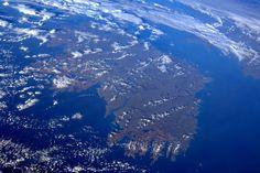 Ireland as seen from the International Space Station. Dublin Hotels, Hotels Near, Grafton Street, Wild Atlantic Way, Images Of Ireland, Irish Landscape, Dublin City, International Space Station, Emerald Isle