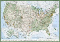 Award winning Imus map of the USA. The best map there is.