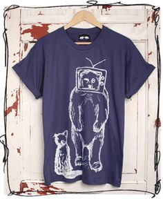 We've got some fab local clothing labels in Sheffield. This TV Bear tee is made by the fantastic Don't Feed The Bears.