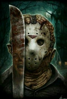 Jason Voorhees [Friday the by Christopher Lovell 'Lovell-Art' Jason Voorhees, Horror Icons, Horror Films, Horror Stories, Horror Villains, Jason Friday, Friday The 13th, Chucky, Christopher Lovell