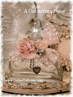 Sweet Pink Rose Perfume Bottle - Romantic Bed & Bath - A Gathering Place