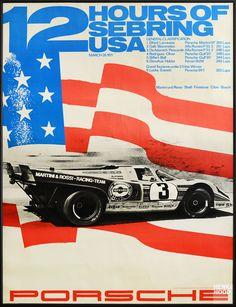 Erich Strenger und Porsche #poster #porsche #sebring