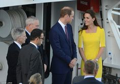 4/16/14 William & Kate take a boat ride across the harbour to Admiralty House in Sydney, Australia.