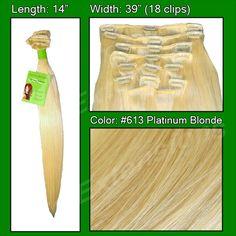 #613 Platinum Blonde - 14 inch