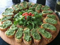 Pesto Crostini in Warwick #pesto #food #yum #eatme #italian #arugula