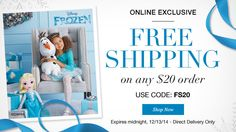 FREE Shipping on any $20 order