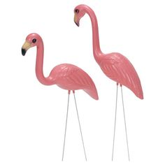 I didn't even know they still made these! Nice!! ~ Add a touch of whimsy to your garden or yard with this classic and colorful flamingo lawn decor.