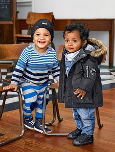 Make the first day fun with confident stripes and unexpected layers for baby boys. | H&M Kids