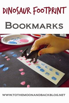 Dinosaur Footprints Bookmarks {Love Books Summer Exchange}