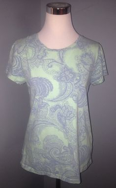 Sonoma Women's Everyday Tee Size Large Pretty Pattern USA Ship #Sonoma #Blouse #Casual
