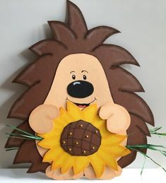 Fall Paper Crafts, Fall Crafts For Kids, Projects For Kids, Diy And Crafts, Christmas Crafts, Kids Art Class, Art For Kids, Hedgehog Craft, Bird Houses Painted