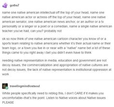 It is important because, growing up, I didn't even know there were any natives left