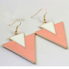 triangle drop earrings  1.top quality  2.lead free,nickel free  3.customized color Lead Free, Triangle, Drop Earrings, Top, Color, Jewelry, Jewlery, Jewerly, Colour