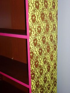 DIY Neon lace bookshelf. From Ikea lame to totally awesome!