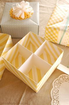 origami gift box from wallpaper