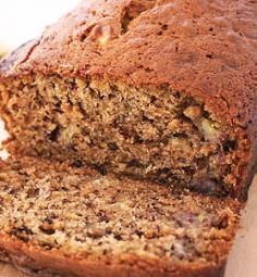 whole wheat banana bread, made with honey instead of sugar! Paleo Chocolate Chips, Chocolate Chip Brownies, Chocolate Chip Banana Bread, Pumpkin Chocolate Chips, Banana Bread Recipe No Baking Soda, Banana Bread Recipes, Brownie Recipes, Whole Wheat Banana Bread, Easy Banana Bread