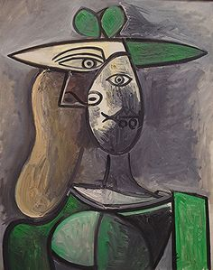 Pablo Picasso Woman in a Green Hat, 1947