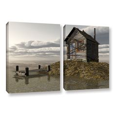 ArtWall 'Cynthia Decker's Locked Out' 2-piece Gallery Wrapped Canvas Set