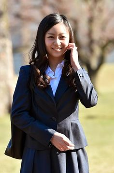 Japanese Princess Kako of Akishino arrives at the International Christian University (ICU) campus for an entrance ceremony to the university in Tokyo on 02.04.2015.
