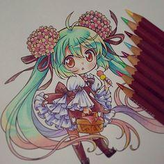 She looks like Hatsune Miku i thing.