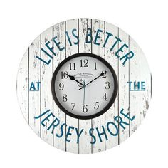 FirsTime Manufactory Jersey Shore Wall Clock 00205 by First Time Manufactory  for $36.99 in Potpourri - Accessories - Furnishings - Housewares : Rural King