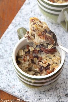 Oatmeal Pecan Chocolate Chip Mug Cake