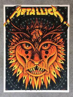 #art RARE 2017 Metallica Lyon, France 9/12 Concert Edition Gig Poster Print x/400 please retweet