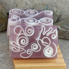 Purple Berry Spice Handmade Glycerin Soap Bar by AlaiynaBSoaps