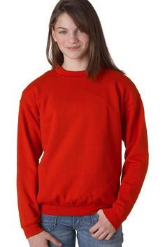 Youth Crewneck Sweatshirt - Set-in sleeves, Sale: $8.08  Spoil your kid rotten this weekend with one of these crewneck sweatshirts made just for children. I know you will be pleased to offer something so colorful (eighteen delightful colors no less) as well as being so comfortable (50% preshrunk cotton & 50% polyester) and practical at True to Size Apparel. #GildanSweatshirt #YouthSweatshirt #GildanYouthSweatshirt http://truetosizeapparel.com/youth-crewneck-sweatshirt-set-in-sleeves/