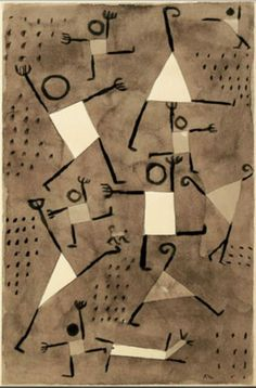Tänze vor Angst (Dancing Under the Empire of Fear) by Paul Klee. Exhibitions: PAUL KLEE L'ironie à l'oeuvre; Paul Klee Art, Franz Marc, Ecole Art, Form Design, Wassily Kandinsky, Art Plastique, Teaching Art, Famous Artists, Oeuvre D'art