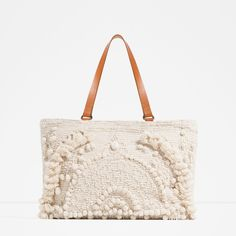 EMBROIDERED FABRIC TOTE-View all-BAGS-WOMAN   ZARA United States