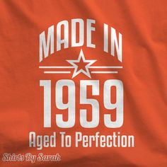 Personalized Shirt - Birth Year T-Shirt Made In Year Aged To Perfection Mens Womens Custom Tee