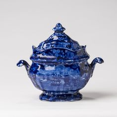 'MACDONNOUGH'S VICTORY,' STAFFORDSHIRE DARK-BLUE TRANSFER-PRINTED SUGAR BOWL AND COVER, ENOCH WOOD & SONS. | Northeast Auctions