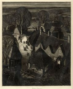 First Known When Lost: Robin Tanner, Christmas, 1929 Love Illustration, Modern Artists, Wood Engraving, Nocturne, Portrait, Les Oeuvres, Printmaking, Robin, Fine Art