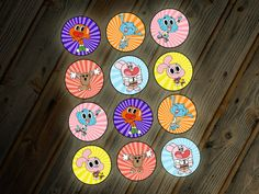 The Amazing World of Gumball Cupcake Toppers by LittleBennyDesigns